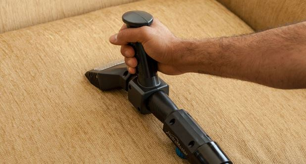 upholstery cleaner on furniture
